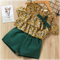 2019 Fashion Little Girls Clothing Sets Fashion Kids Lovely Doll Sleeveless T-shirt+Short 2Pcs Baby girl Clothes
