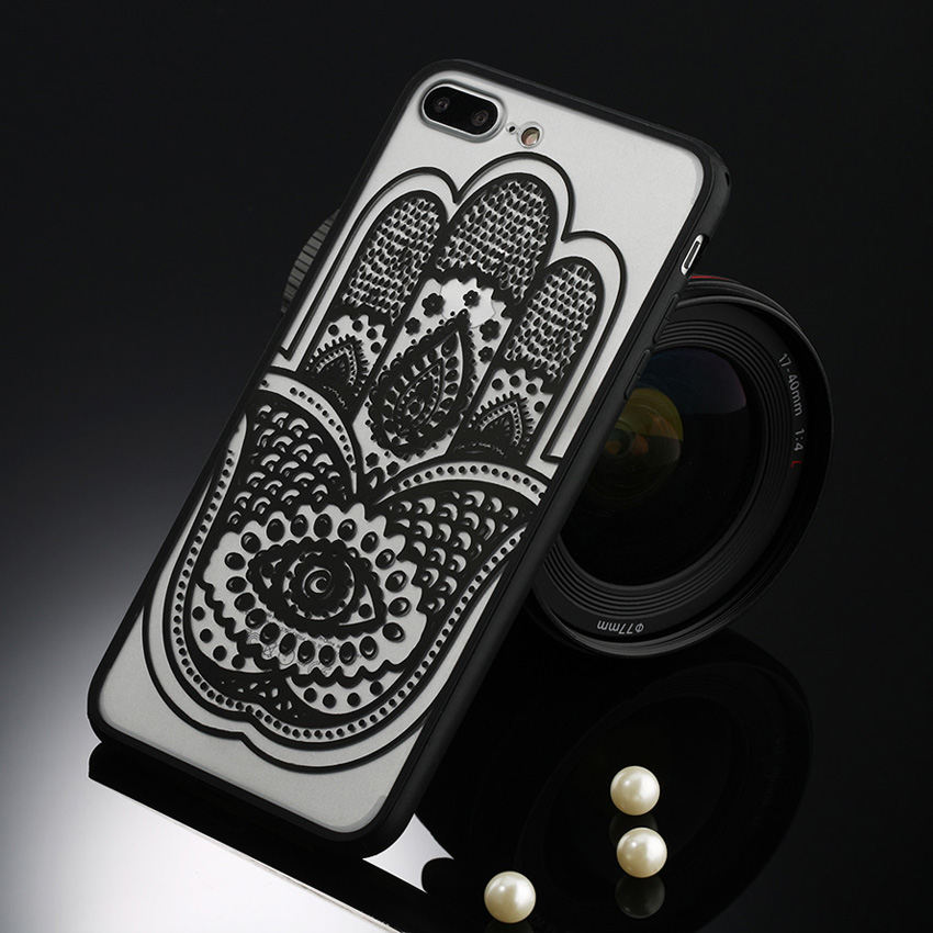 Retro Mandala Floral smartphone case with lace ,Sexy Lace Flower Back Cover cell phone covers For iPhone 11 pro xs max 78plus