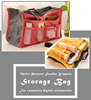 Multi-pockets Foldable Cosmetic Makeup Kit Mesh Tote Travel Bag With Double Zippers