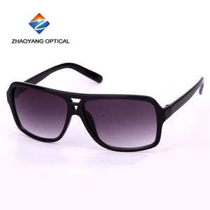 Black aviator sunglasses PC frame polarized eye glasses for men