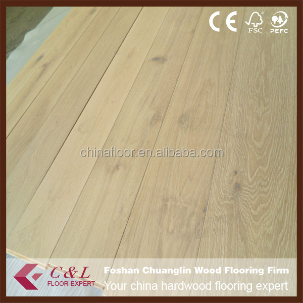 C&L raw unfinished ABCD Oak solid wood flooring