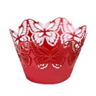 2013 innovative laser cut purple butterfly cupcake wrapper for Valentine's Day