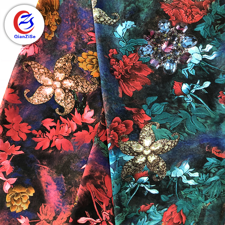 Stock a lot french <strong>thick</strong> silk chiffon printed fabric price per meter dubai chiffon fabric for blouse or children's clothing