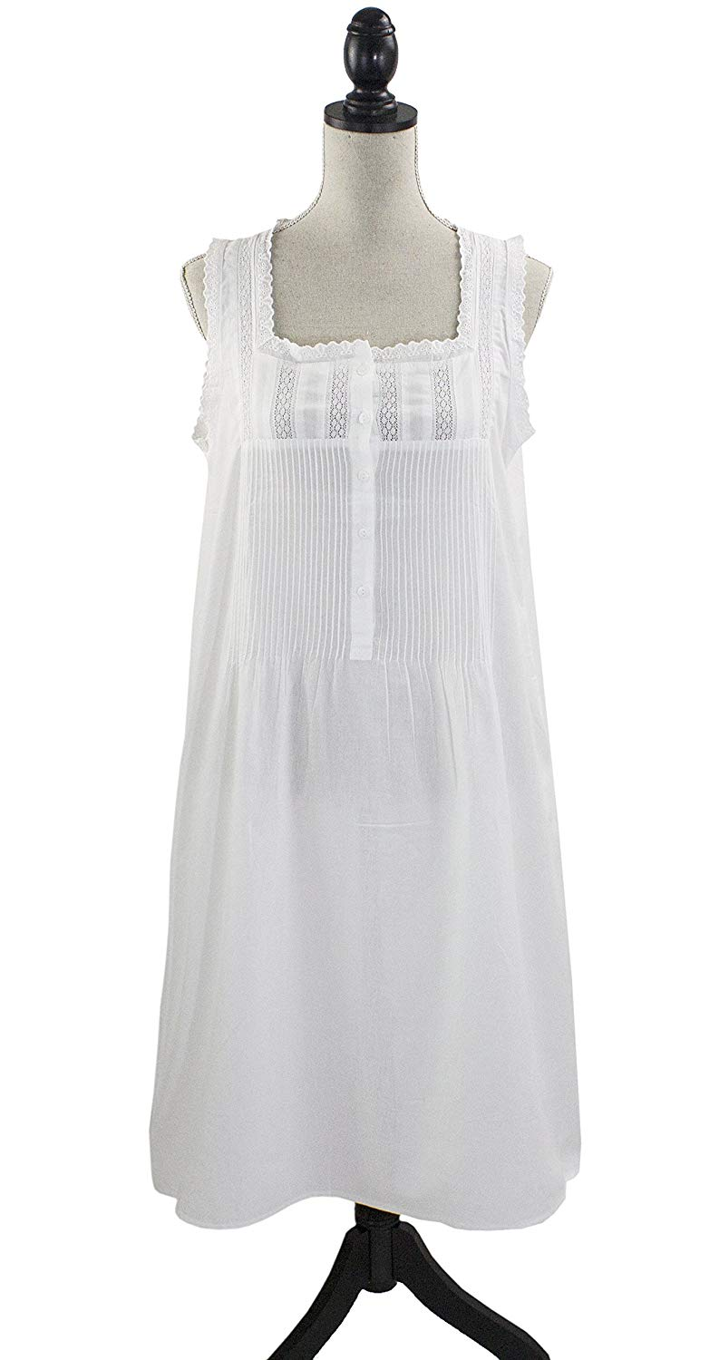 6ad9491cf0 Get Quotations · stylesilove Womens Handmade Victorian Style White Cotton  Embroidered Nightgown