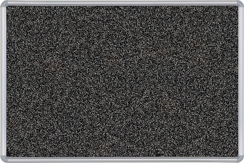 Best-Rite Presidential Trim Rubber-Tak Tackboard, Silver Trim, 4 x 4 Feet, Black (321PD-96)