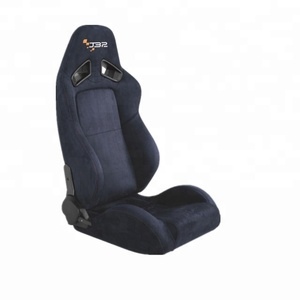 Suede racing seat recliable sports car seat Adjustable car seat double rail JBR1052 navy blue