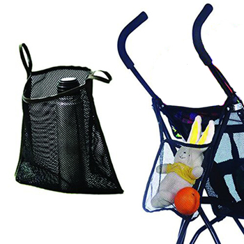 Universal Size Black Baby Bag Netting Organizer Mesh Kids Stroller Carrying Bag