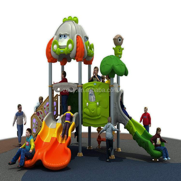 Children Plastic Outdoor Playground Equipment Amusement Park Toys Outside Plastic Playground Slide for Sale