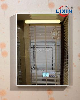 Led Lighted Bathroom Mirror With Mp3 Player,Bedroom Radio & Clock ...