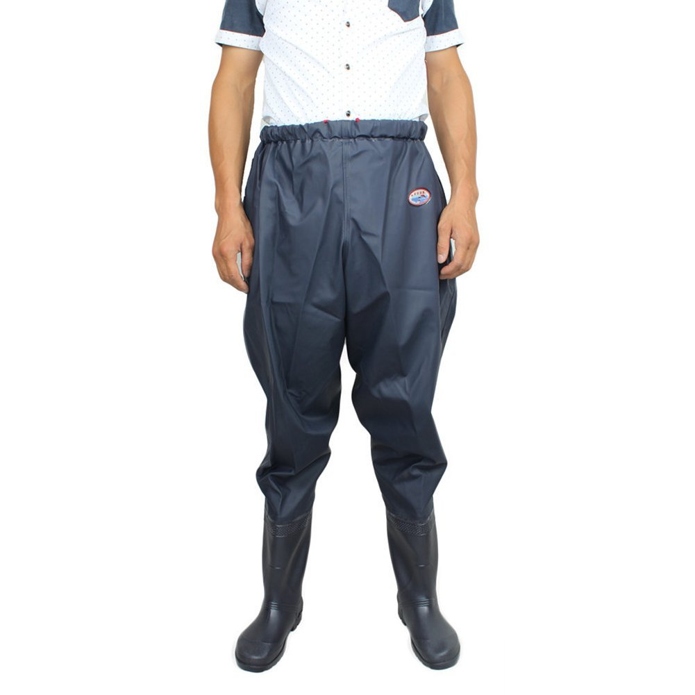 a9e9080833c Get Quotations · Fishing Waist Hip Waders with Boots Waterproof Anti-Slip  Wading Overalls Pants