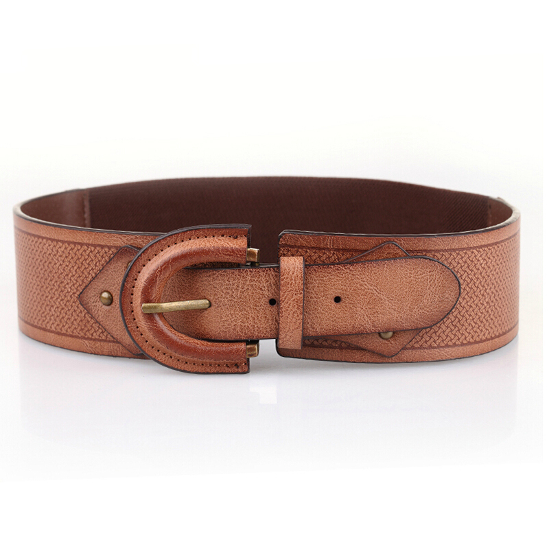 86382414f00 Buy 2015 New Fashion Brown Pin Buckle PU Leather Belt For Women Summer Style  Wide Elastic Women Belts For Dress in Cheap Price on m.alibaba.com