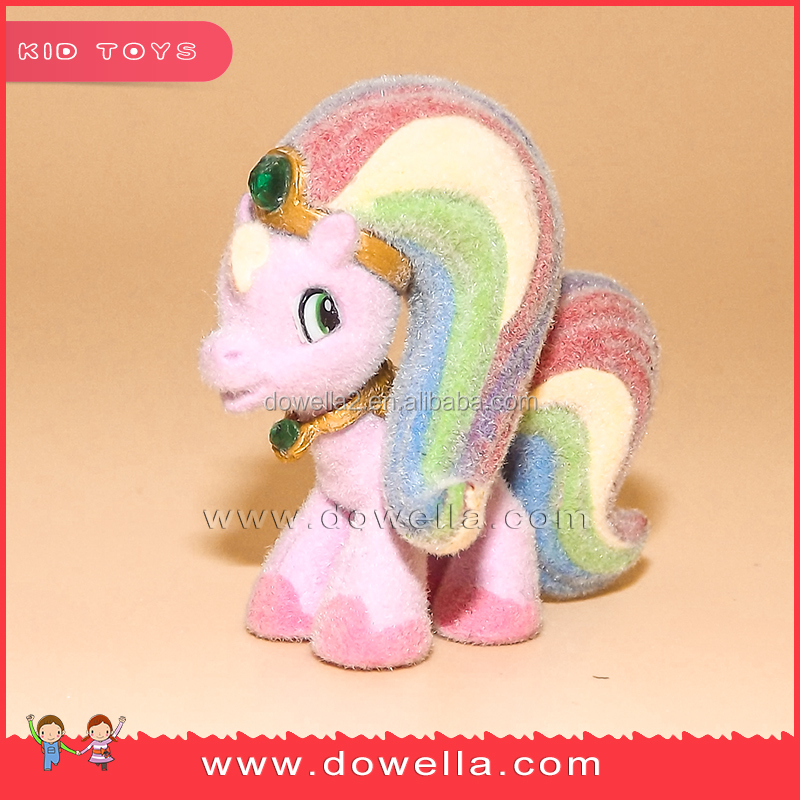 plastic flocked new pony product flocking horse toy