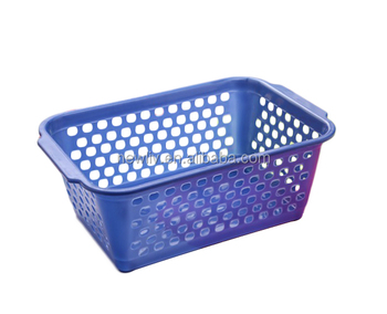 Plastic Vegetable Fruit Storage Trays Baskets Dropping Water For Kitchen/ Plastic Washing Basket With Handle