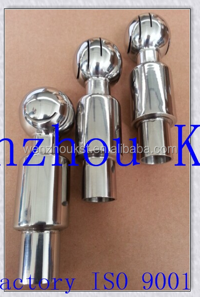 Sanitary stainless steel spray balls with tri clamp end weld end thread end