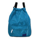 custom durable water resistant nylon drawstring sport gym bag backpack with PVC compartment for wet clothes