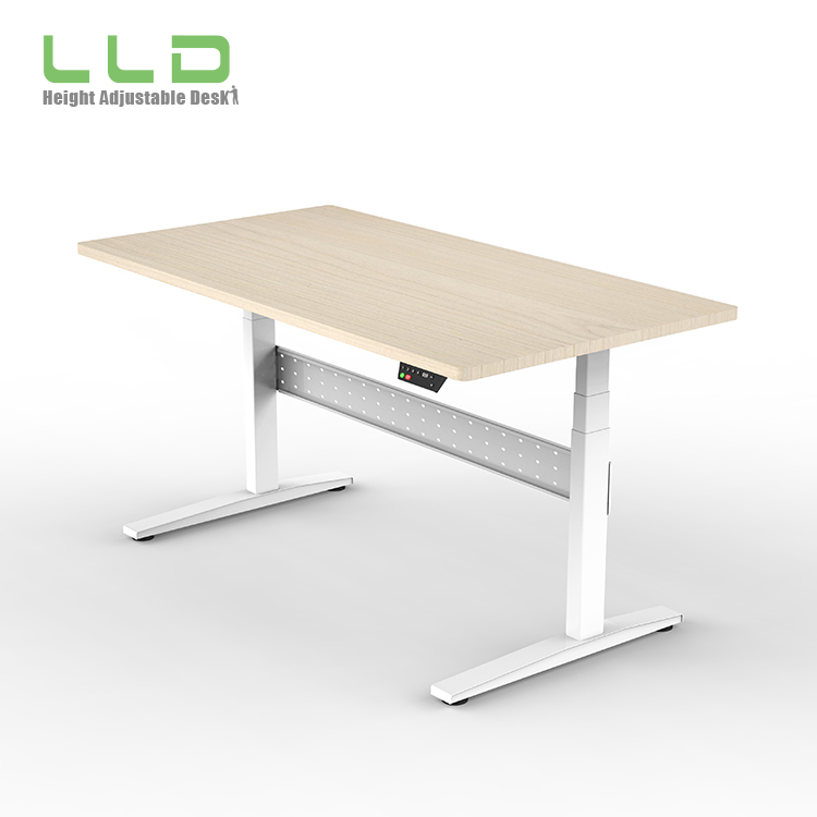 Metal Frame Sit To Stand Desk Height Adjustable,Electric Adjustable Office Sit Stand Desk