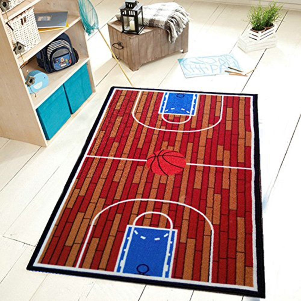 Furnish my Place basketball court Kids Rug