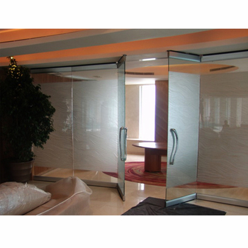 Sliding Operable Frosted Glass Room Dividers Partition Door Seal for Office