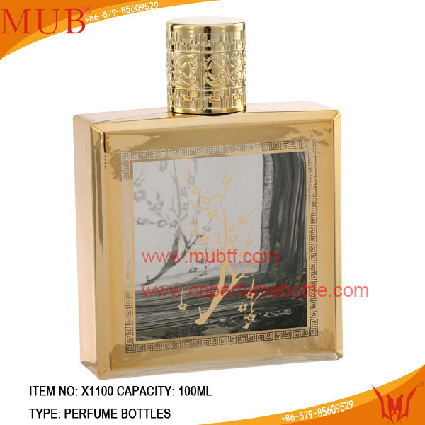 Bulk Fragrance Bottles With Metal Cap Glass Parfum Bottles