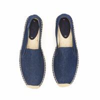 Wholesale Cheap Canvas Espadrille Shoe , Canvas Espadrillo Man Alpargatas Shoe , Factory Custom Jute Sole Leather Man Espadrille