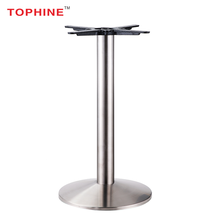 Commercial Contract Stainless Steel Adjule Feet Outdoor Table Base Round Metal Dining Legs