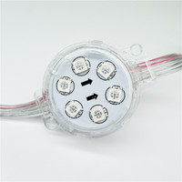 Waterproof SMD 5050 aluminum profile dc24v 12w dmx led pixel light