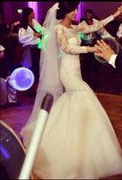 beautiful long sleeves mermaid wedding dress OW54
