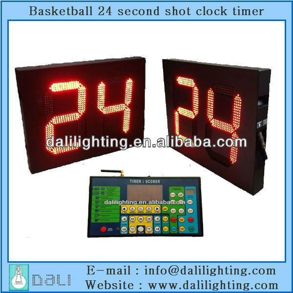 "NBA CBA equipment factory supplier of LED shot clock 24"" seconds for basketball"