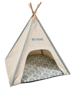 Luxury Wood Dog Teepee Puppy Bed Cat Bed Pet Tent Bed & Accessories