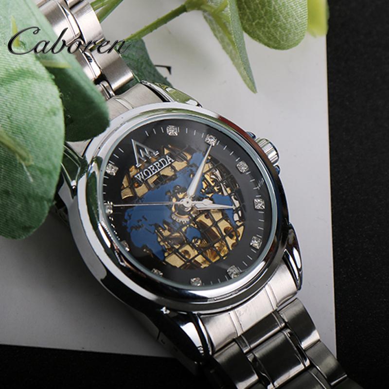 b7e009ae2fe5 OEM reloj de lujo mapa Acero inoxidable reloj automático para hombre relojes  Etiqueta Privada