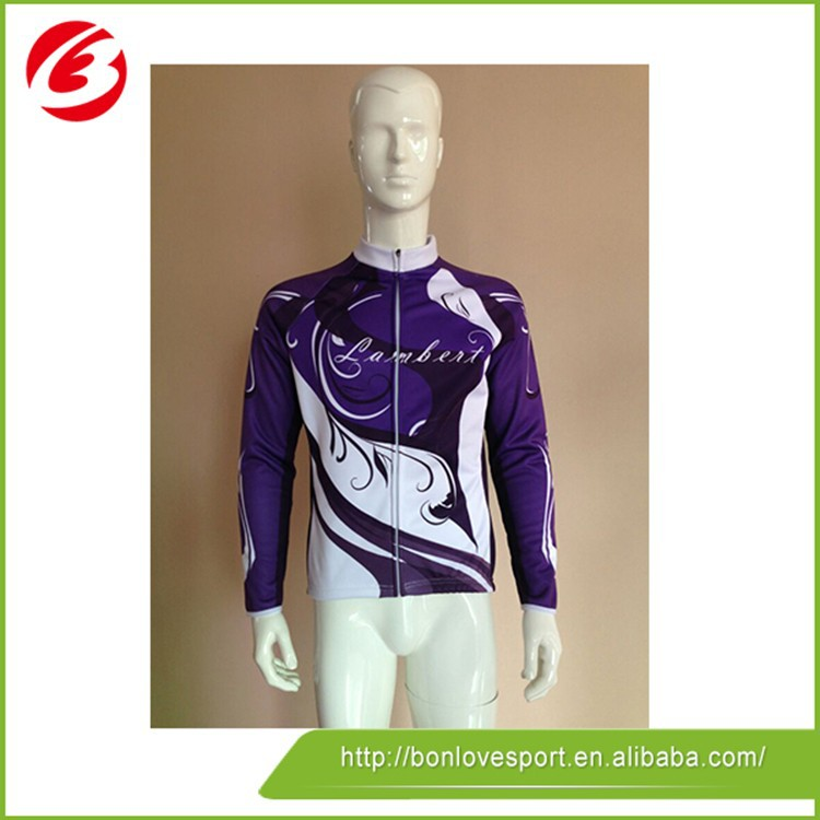 100% Polyester Fashionable Women Cycling Jerseys