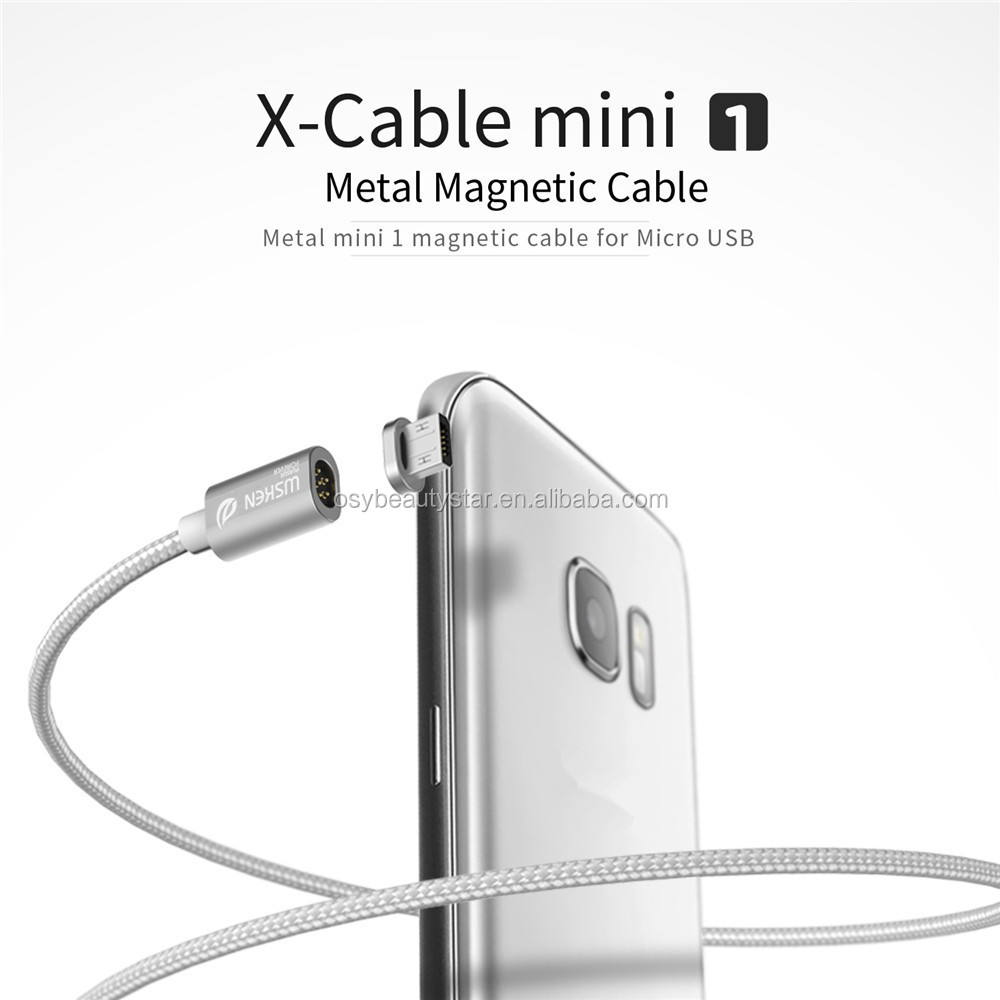 Magnetic Cable For Phone Metal Mini 1 8 pin Magnetic Cable 2.4A Braided Quick Charging Data Cables