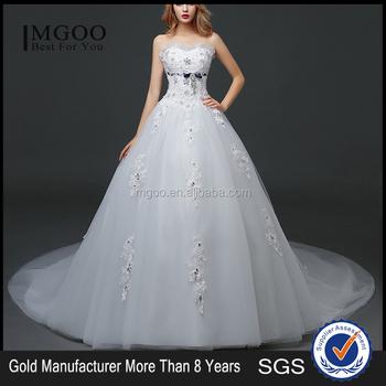 Mgoo Disesuaikan Ball Gown Lantai Panjang Wedding Dress Untuk Wanita