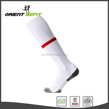 Custom wholesale Anti-Bacterial anti slip Jacquard long soccer socks