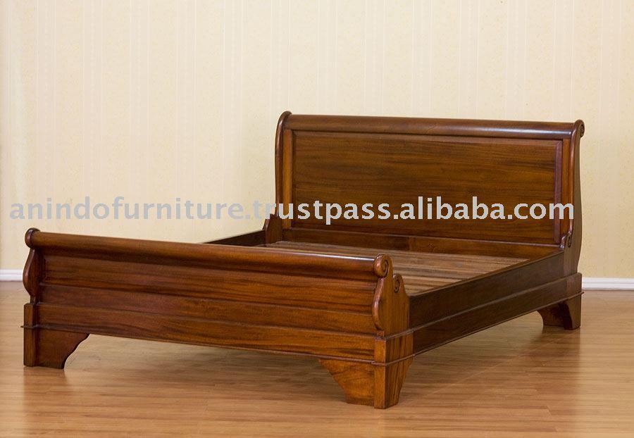 Muebles Del Hotel-caoba Trineo Cama - Buy Product on Alibaba.com