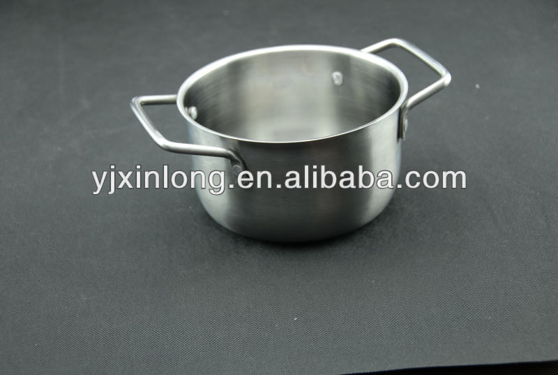stainless steel bbq sauce pot with silicone brush