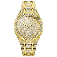 Gold Watch Men Luxury Brand Diamond Mens Watches Top Brand Luxury Male Quartz Watch Calender Unique Gift For Men