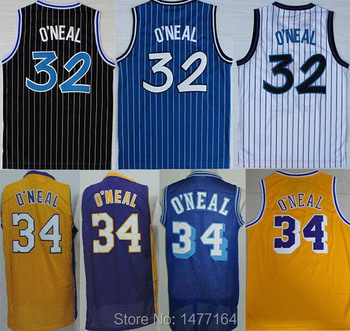 low cost 460aa 8853b 2015 Best #32 Shaq Throwback Basketball Jersey, #34 ...