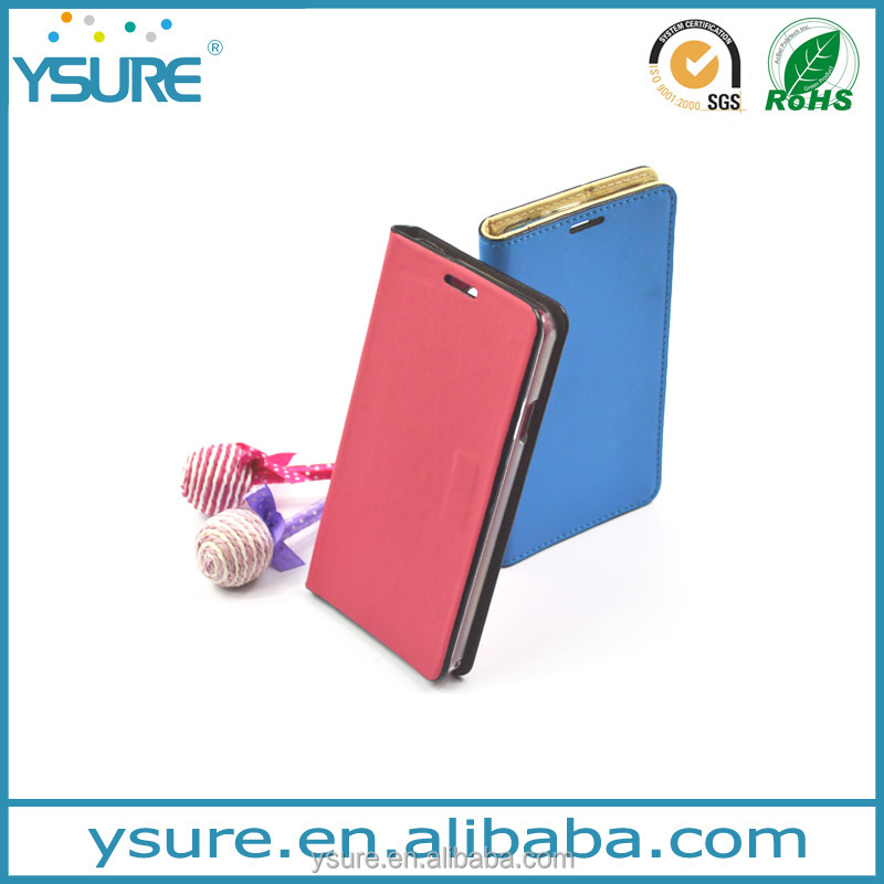 Simpler than Simple Pure Color Design Leather Phone Case For BLU Studio X Plus With Plaid Pattern Lining