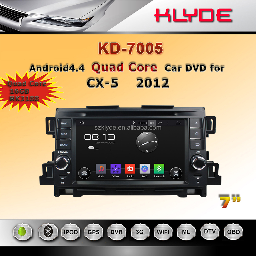 New technology quad core Touch button Android 4.4.4 touch screen car dvd player for CX-5