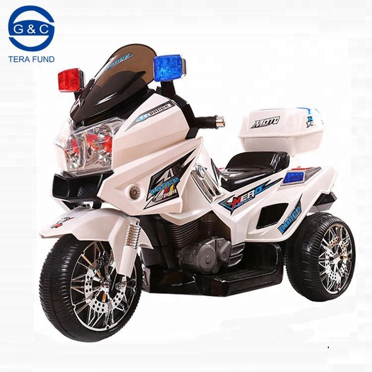 12v Wheels Ride On Police Car For Kids