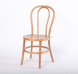Natural Wooden Color Stackable thonet bentwood Chair