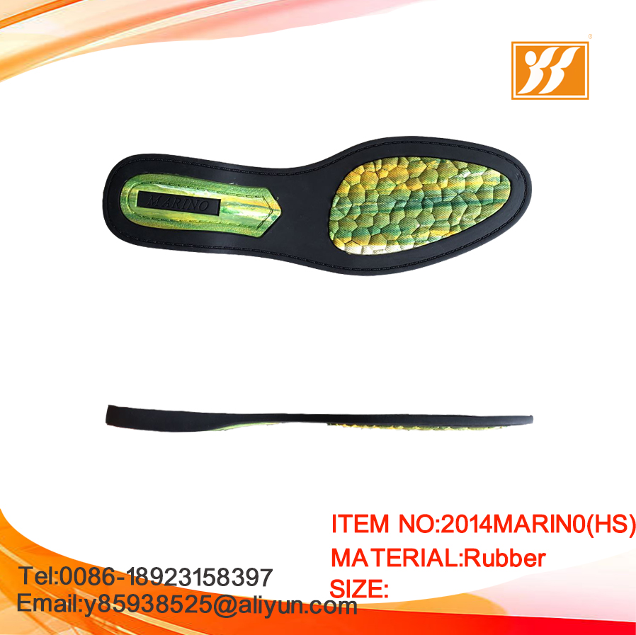 2017 Fashion RB rubber sole design