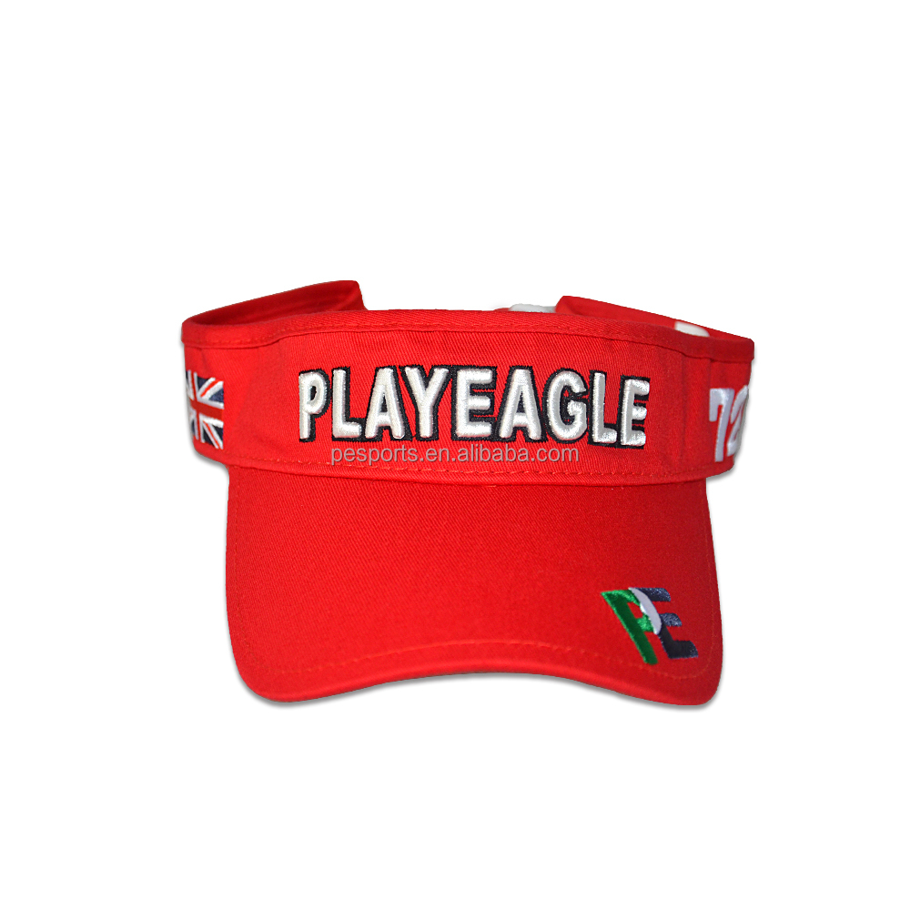 playeagle visor Unisex sun visor cotton hats Outdoor activities golf sport visor Caps