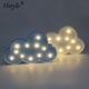3D LED Marquee Cloud Night Light 11 Leds Battery Operated White Cloud Letter Lamp For Christmas Decoration Kid's Gift SNL093
