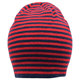 Red and black stripes walmart blank knitted acrylic winter hats