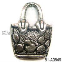 Engraved spangle handbag charms