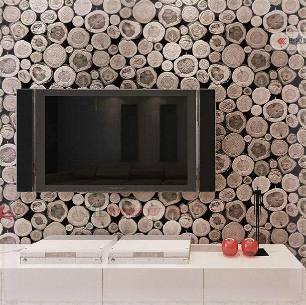 bois mur papier peint motif bouleau bois intiss rouleau design moderne rev tement mural simples. Black Bedroom Furniture Sets. Home Design Ideas
