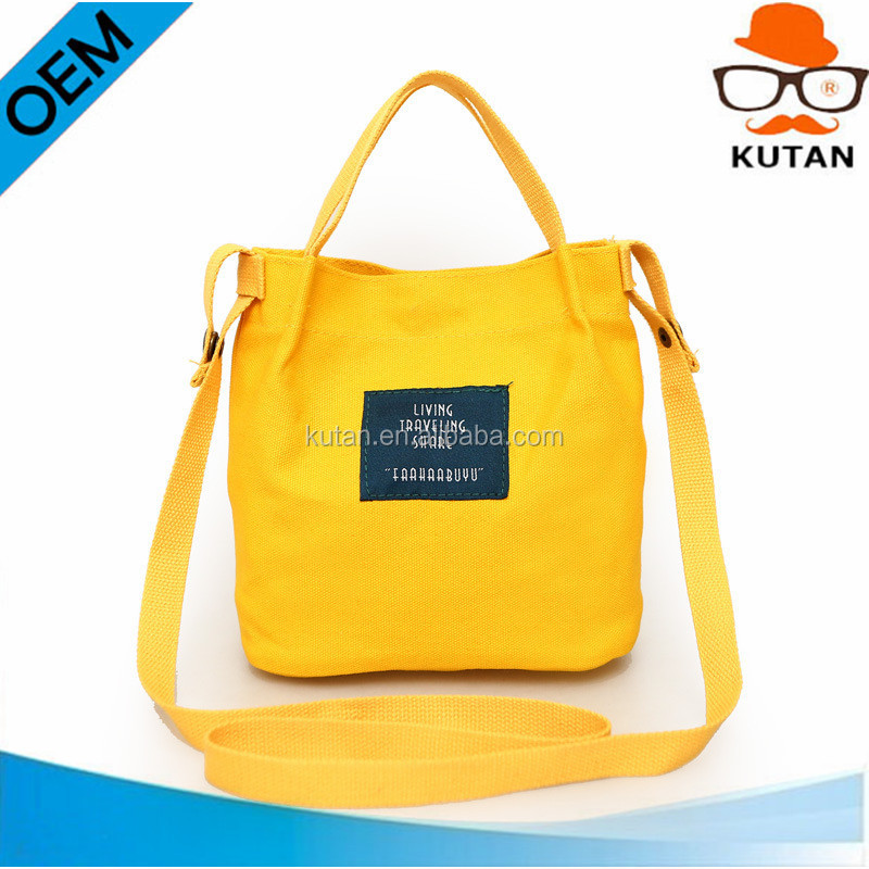New Design Chic Korean Star yellow Bucket Messenger Totes Wholesale Sturdy Woman