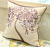 2016 Hot Sale Money Tree Embroidery Pillow Case Cotton&Linen Square Cushion Covers